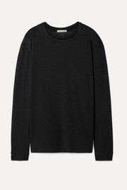 Frances de Lourdes Marlon slub cashmere and silk-blend top