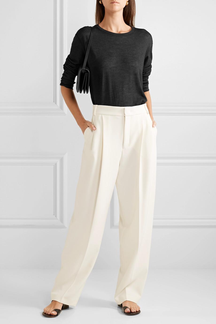 Frances de Lourdes Marlon 竹节纹羊绒真丝混纺上衣