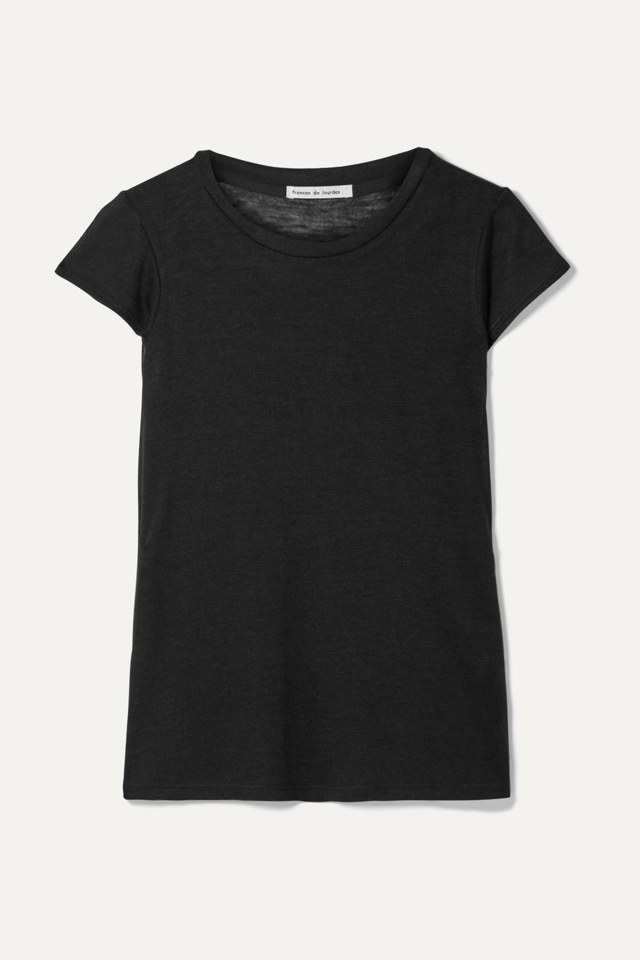 Frances de Lourdes Garçon 羊绒真丝混纺 T 恤