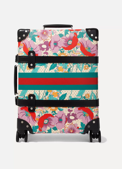 98deee439 Gucci | + Globe-Trotter leather-trimmed floral-print fiberboard suitcase |  NET-A-PORTER.COM