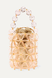 Icaria acrylic and gold-tone beaded tote