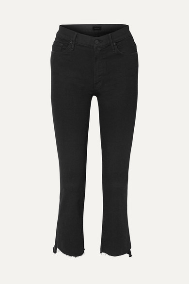 The Insider Crop high-rise flared jeans
