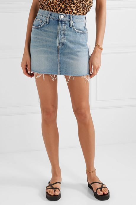 The Vagabond distressed denim mini skirt
