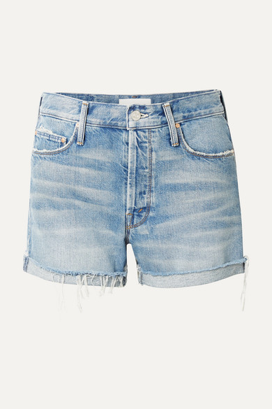 The Proper Distressed Denim Shorts by Mother