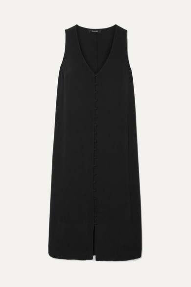 Heather Crepe De Chine Midi Dress by Madewell