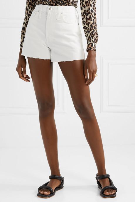 The Perfect Vintage frayed denim shorts