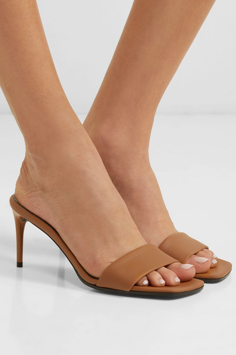 + NET SUSTAIN faux leather mules