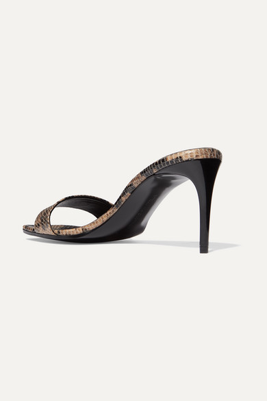 Stella Mccartney Mules + NET SUSTAIN snake-effect faux leather mules