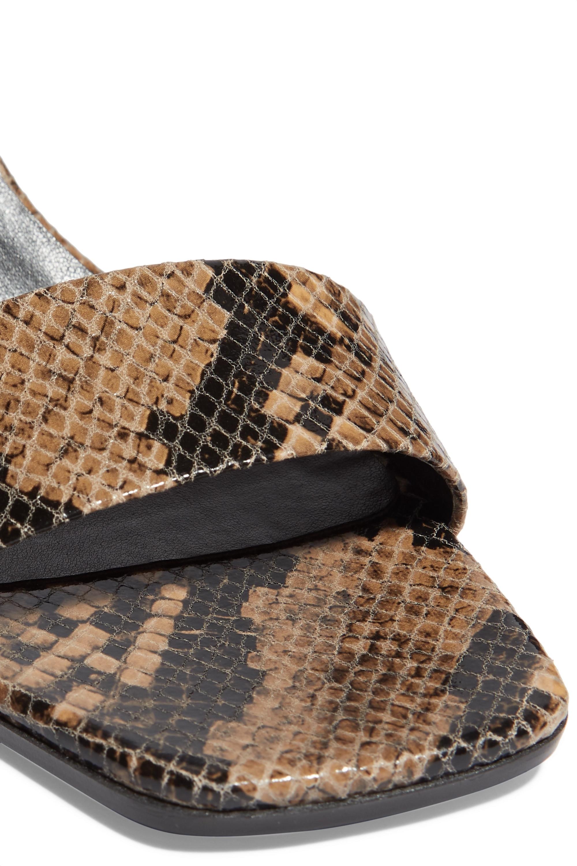 Stella McCartney + NET SUSTAIN snake-effect vegetarian leather mules