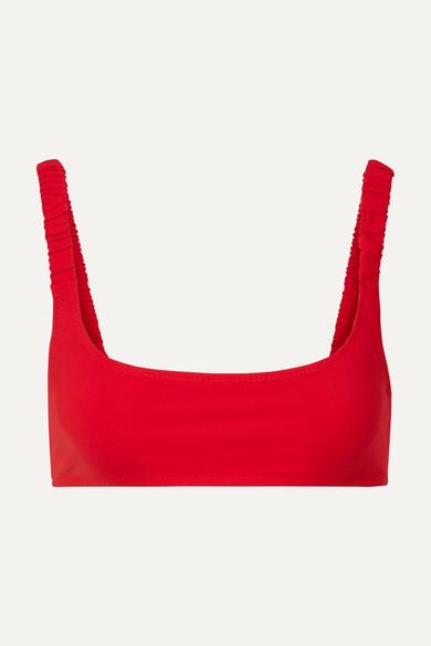 FISCH | Fisch - Colombier Bikini Top - Red | Goxip