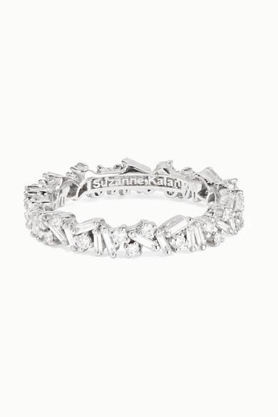 18-Karat White Gold Diamond Ring