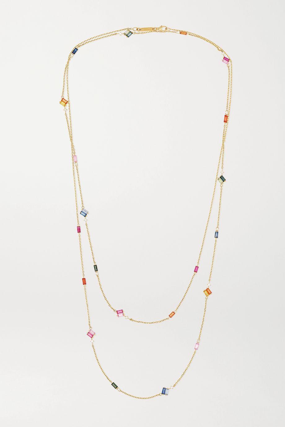 Suzanne Kalan Collier en or 18 carats, saphirs et diamants