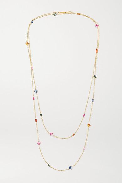 18-Karat Gold, Sapphire And Diamond Necklace