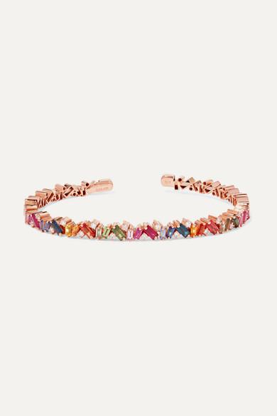 18-Karat Rose Gold, Sapphire And Diamond Cuff