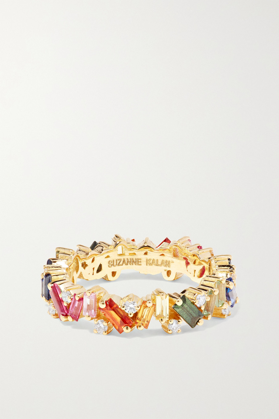 Suzanne Kalan 18-karat gold, diamond and sapphire ring