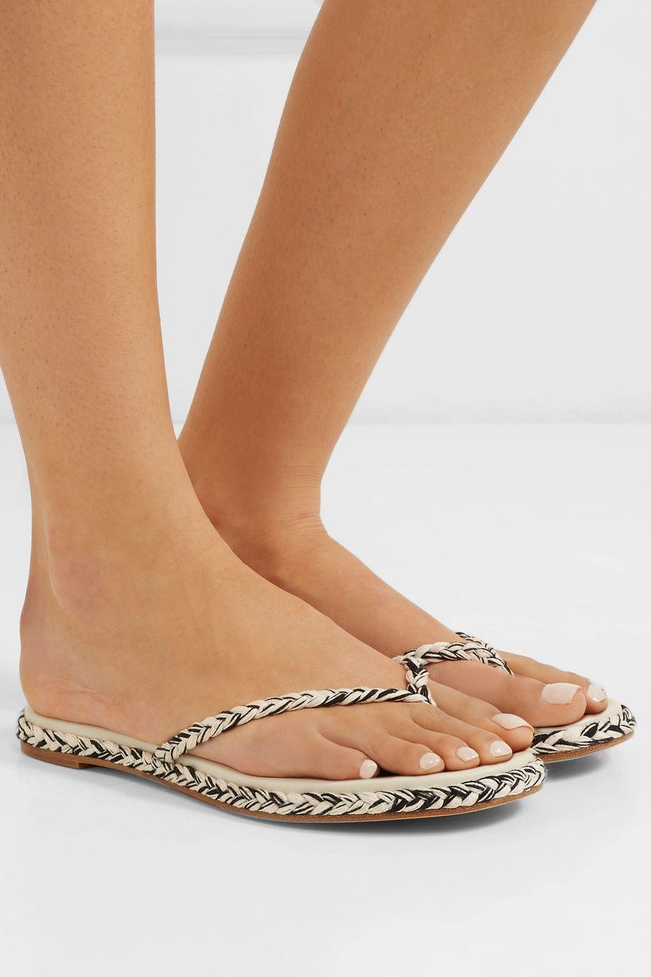 Antolina Boe braided cotton flip flops