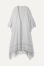 Caravana Yun Caax fringed distressed cotton-gauze robe