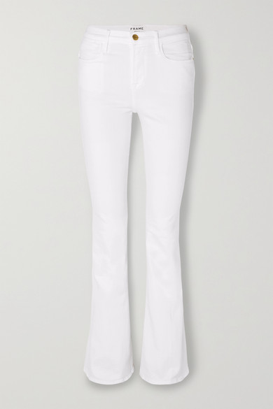 FRAME | FRAME - Le High Flare Jeans - White | Goxip
