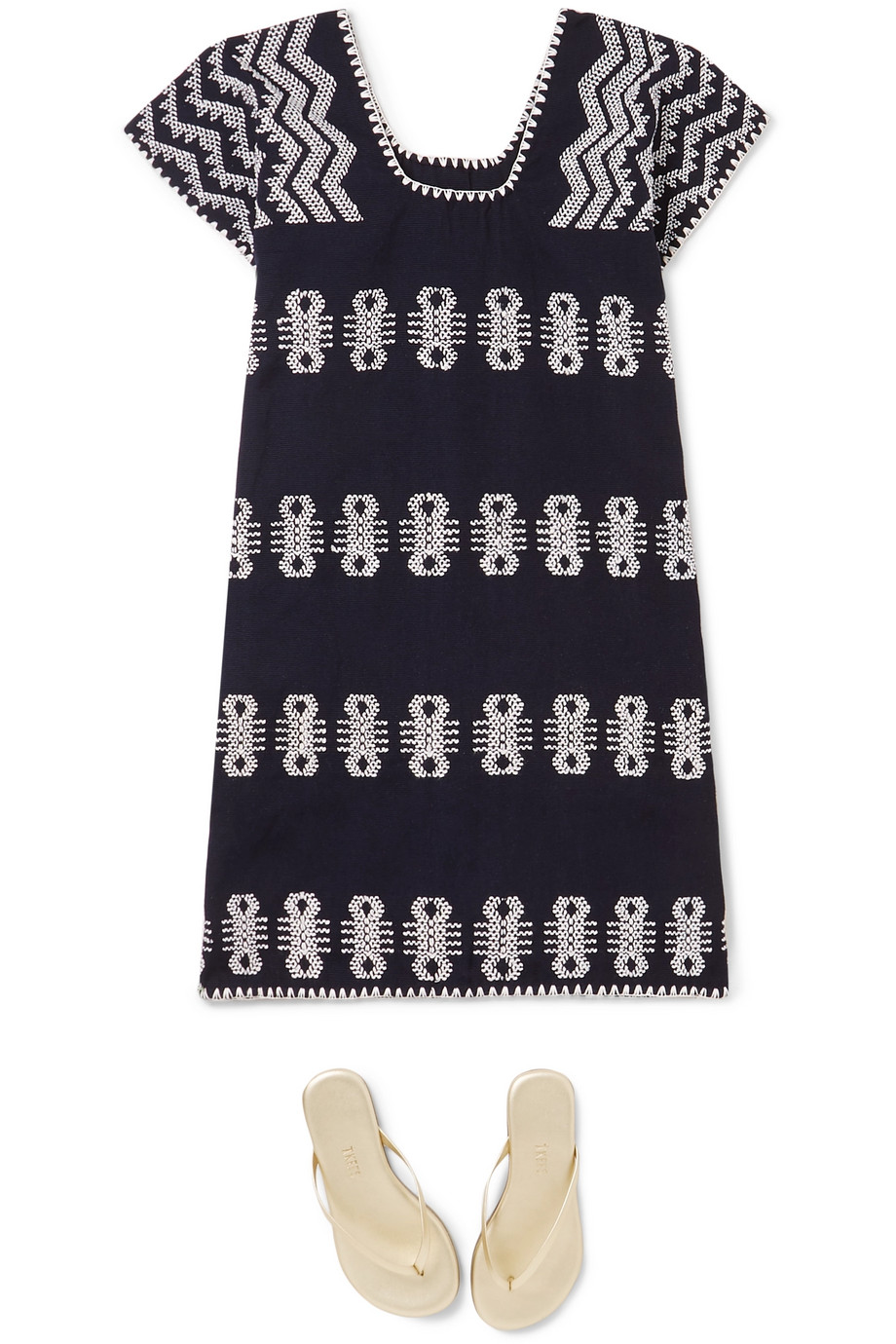 Pippa Holt Kids Embroidered cotton huipil