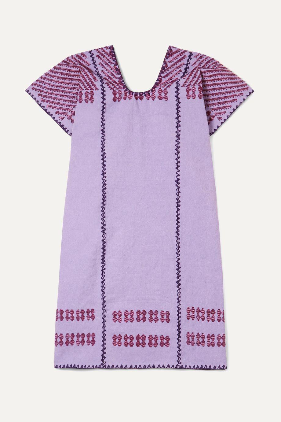 Pippa Holt Kids Embroidered cotton kaftan