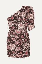 4cca28df91192 Isabel Marant Mini-robe asymétrique en coton à imprimé fleuri Lilia