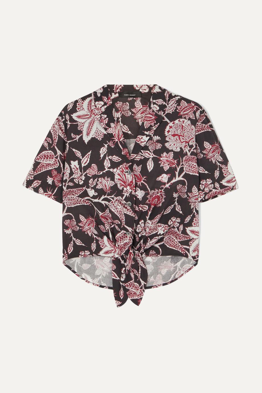 Isabel Marant Neel tie-front floral-print cotton shirt