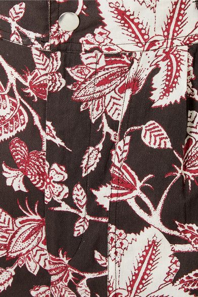 Isabel Marant Shorts Lweni floral-print cotton shorts