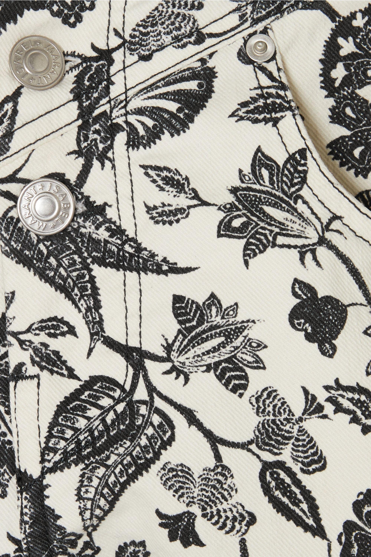 Isabel Marant Loya Shorts aus Denim mit Blumenprint