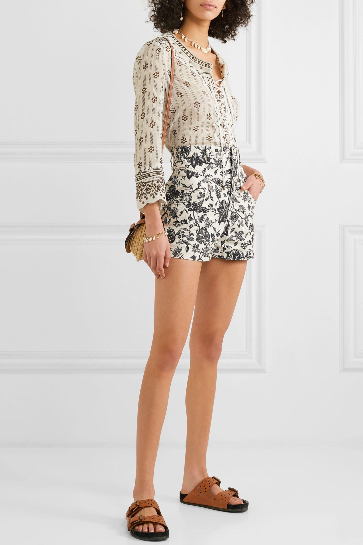 Isabel Marant Loya floral-print denim shorts