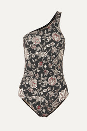 Isabel Marant Sage one-shoulder cutout floral-print swimsuit