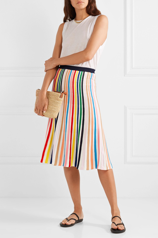 J.Crew Striped stretch-knit skirt
