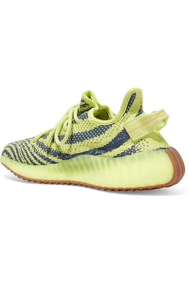 ba0561ad adidas Originals. Yeezy Boost 350 V2 zebra-intarsia Primeknit sneakers.  £180. Zoom In
