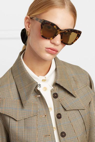 8a06d5db47 Loewe. Cat-eye tortoiseshell acetate sunglasses