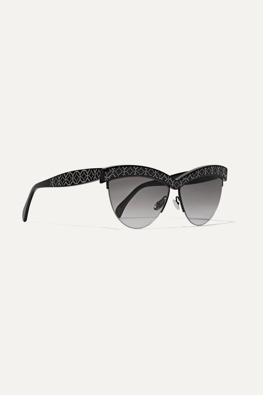 Alaïa D-Frame studded acetate sunglasses