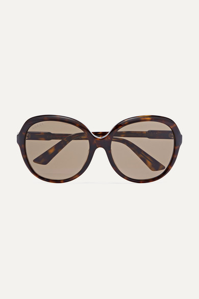 d0703c1447 Oversized round-frame tortoiseshell acetate sunglasses