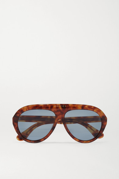 6f2c06193979 Gucci | Aviator-style tortoiseshell acetate sunglasses | NET-A-PORTER.COM