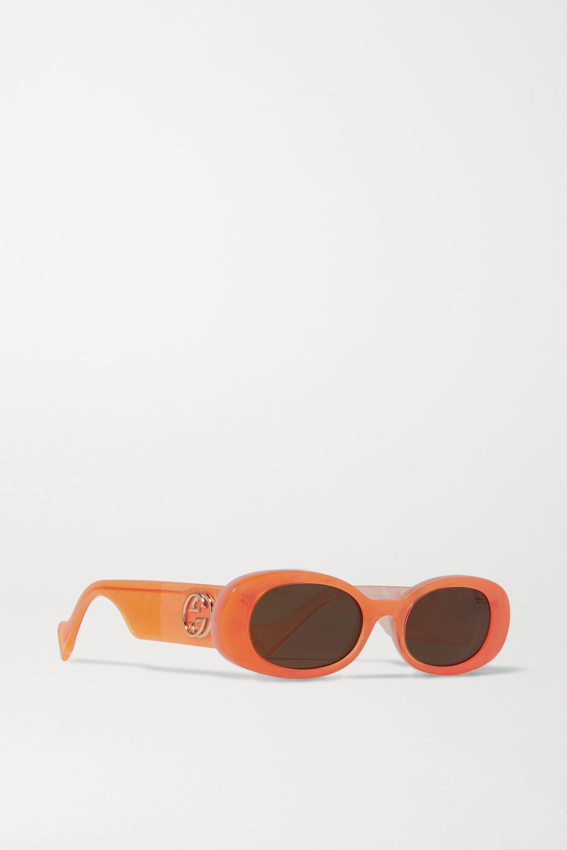 Gucci Oval-frame acetate sunglasses