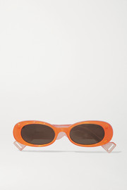 Gucci Oval-frame acetate sunglasses