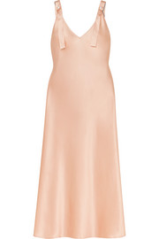 Pearl-embellished silk-satin nightdress