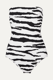 On The Island By Marios Schwab Petra tiger-print bandeau swimsuit