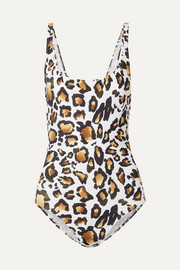 On The Island By Marios Schwab Gialos leopard-print swimsuit