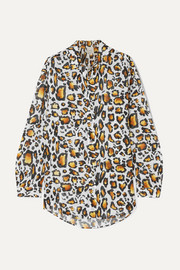 On The Island By Marios Schwab Ransvik leopard-print cotton-voile shirt