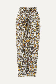 On The Island By Marios Schwab Psili leopard-print cotton-voile pareo