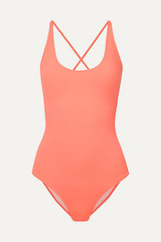 On The Island By Marios Schwab Lace-up swimsuit