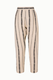 Albus Lumen Safi striped cotton and linen-blend jacquard tapered pants