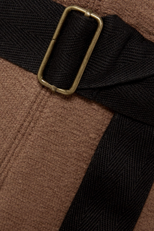 Albus Lumen Traveller Shorts aus Frottee aus einer Baumwollmischung mit Gürtel