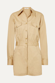 Tibi Cotton-poplin playsuit