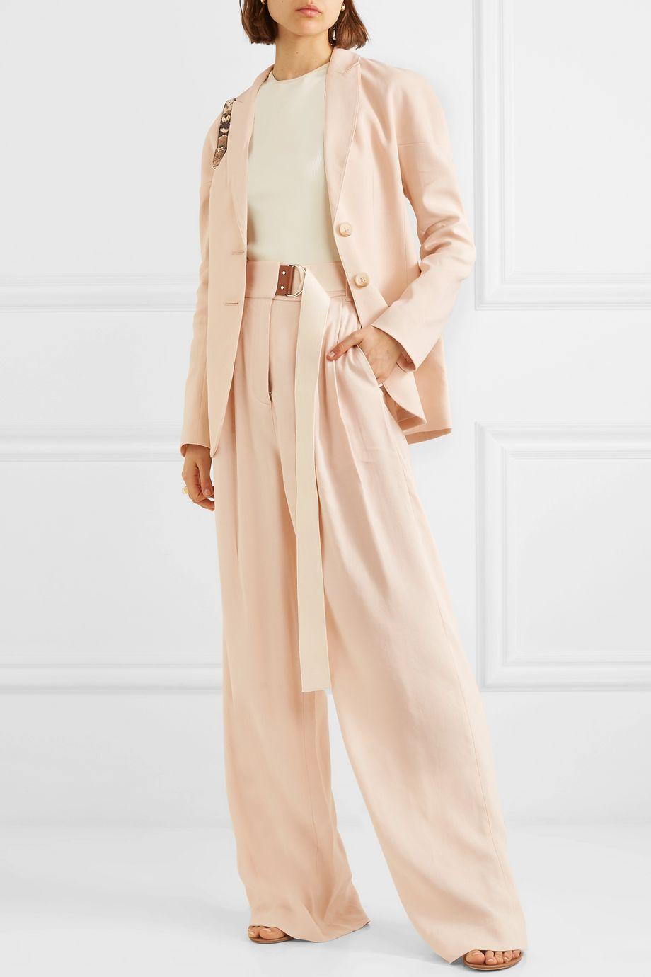Tibi Oversized linen-blend twill blazer