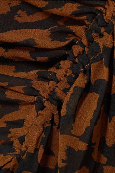 5ffc9d51739b Nicholas | Ruched leopard-print silk-chiffon dress | NET-A-PORTER.COM