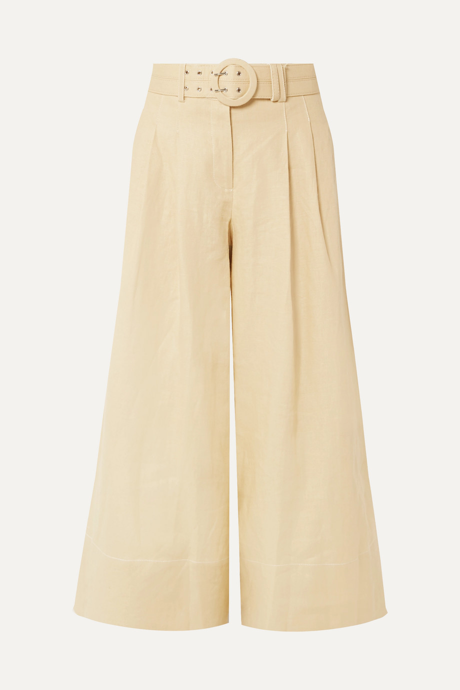 NICHOLAS Jupe-culotte raccourcie en lin à ceinture